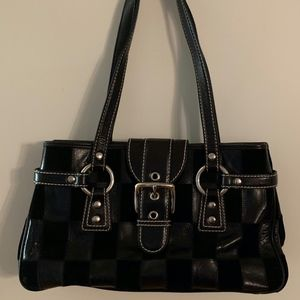 Isabella Fiore Leather & Suede Patchwork Purse